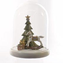Cupola vetro c/albero/cavallo cm.25