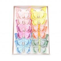 Farfalla con clip colori assortiti cm.8 pz.12